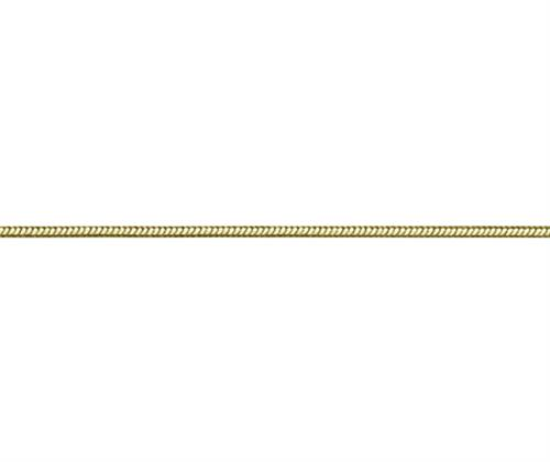 Snake chain yellow gold 16