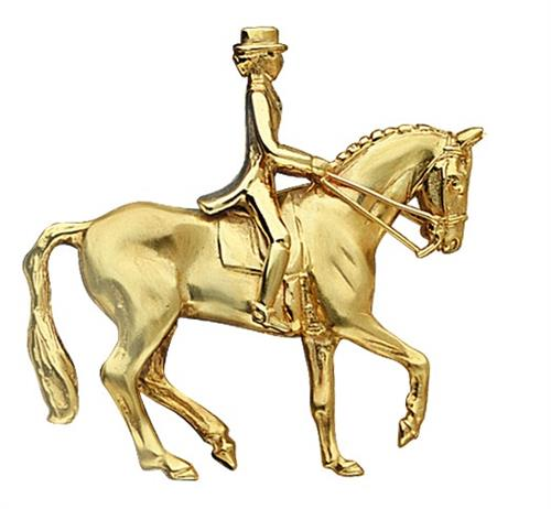 Dressage Horse and Rider Brooch