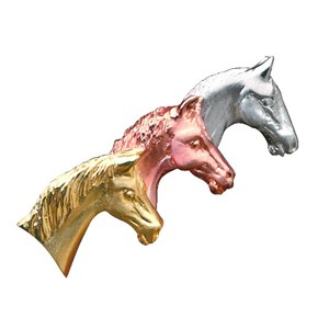 Limited Edition Three Horse Heads Brooch