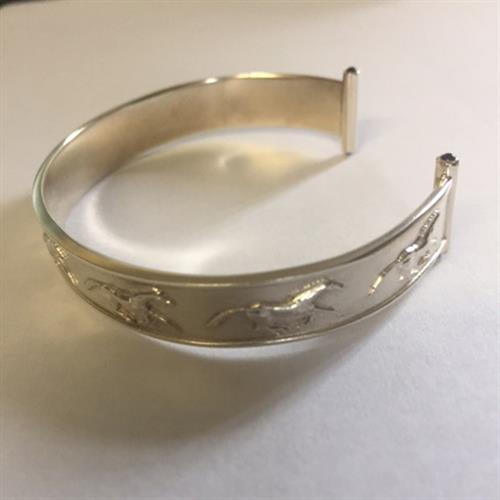 Torque Style Galloping Horse Bangle