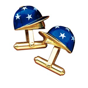 Enamelled Jockey Cap Cufflinks