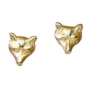 Tiny Fox Mask Stud Earrings