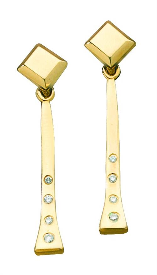 Farrier Nail Drop Earrings with Diamonds