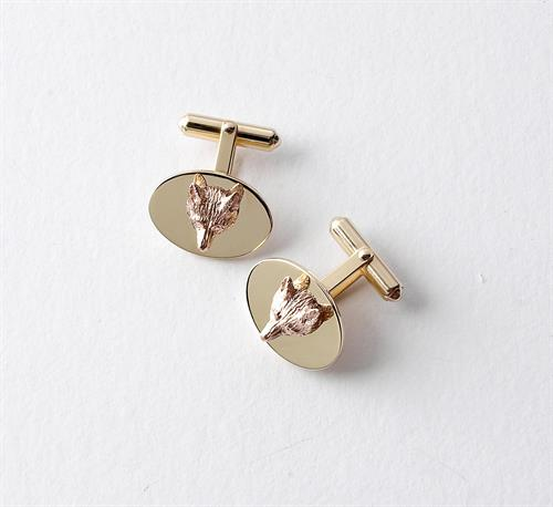 Fox Head on Disc Cufflinks