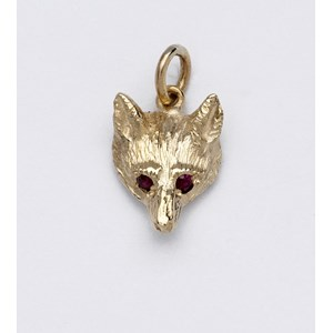 Small Fox Mask Pendant or Charm