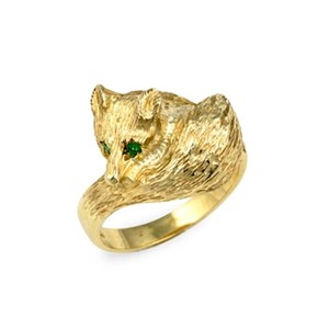 Curly Fox Ring