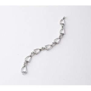 Medium Stirrup Diamond Bracelet